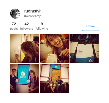 Get Instagram photos of a certain user filtered by a tag.