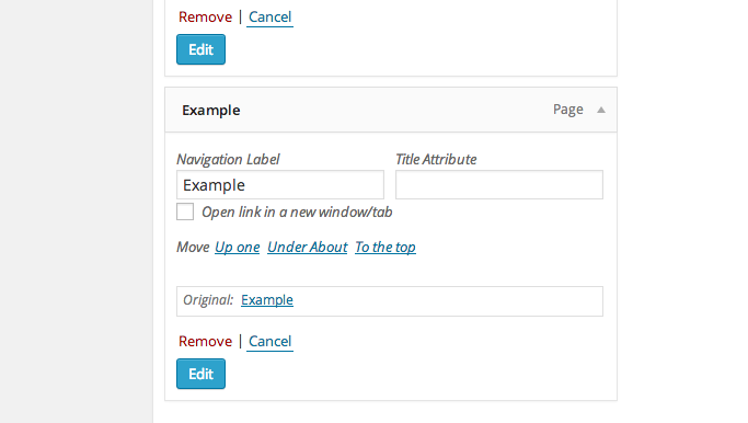 How to edit each menu item in WordPress individually