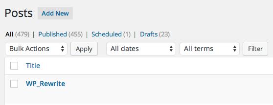 term taxonomy posts filter in wordpress admin
