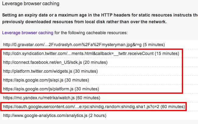 Leverage browser caching in PageSpeed