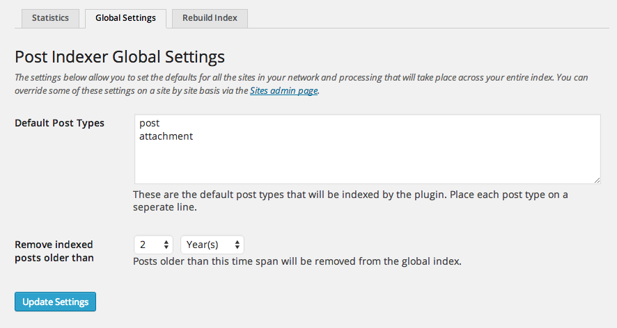 Add the attachment post type to global network index.