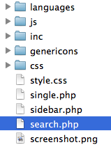 search.php in the theme directory