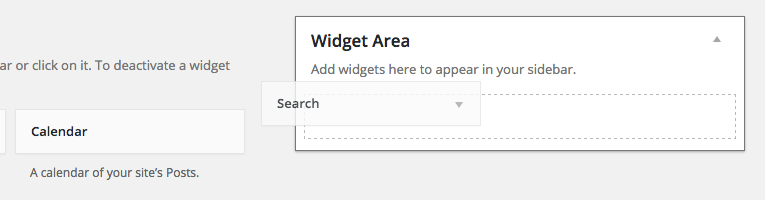 Add the default search widget to the website.