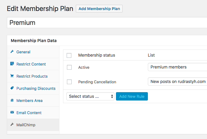sync your WooCommerce members with MailChimp