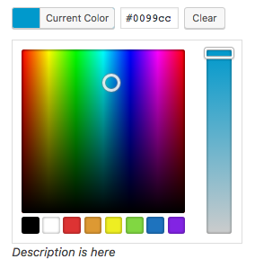 Color Picker field in WordPress for our metabox