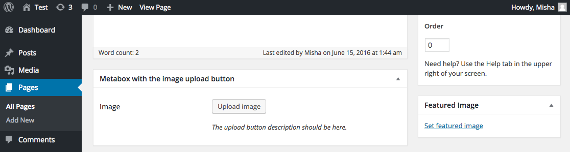 Upload Image Meta Box in WordPress using my plugin