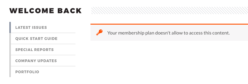 Restricted content WooCommerce Memberships