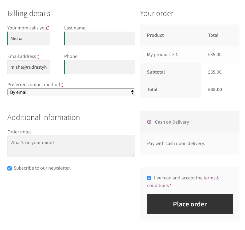 It is simple enough to add your custom checkout fields, just do not forget to save the values to order meta.