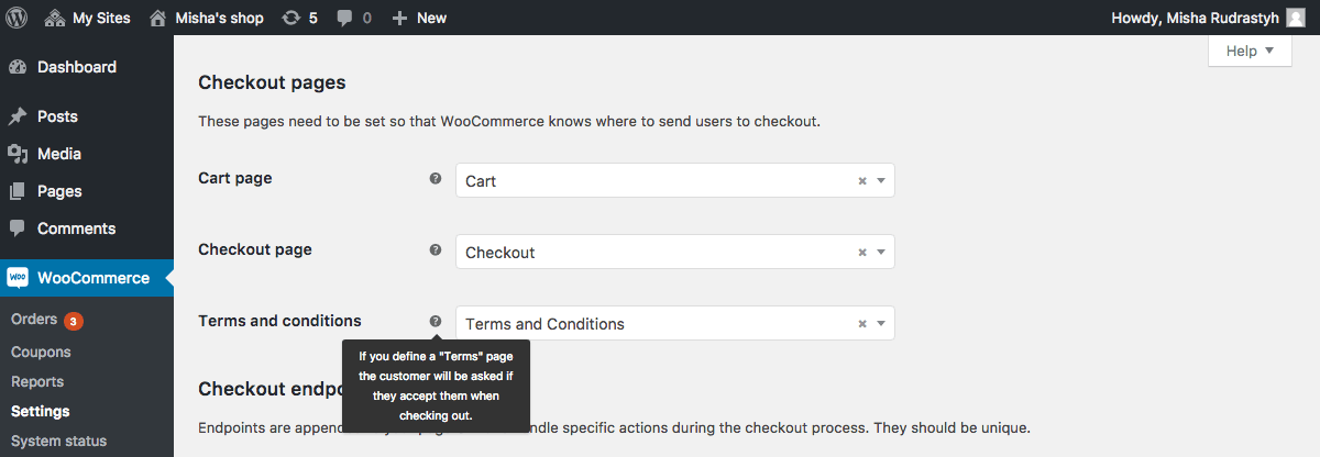 Simple and correct way to add Terms and Conditions checkbox to the checkout page.