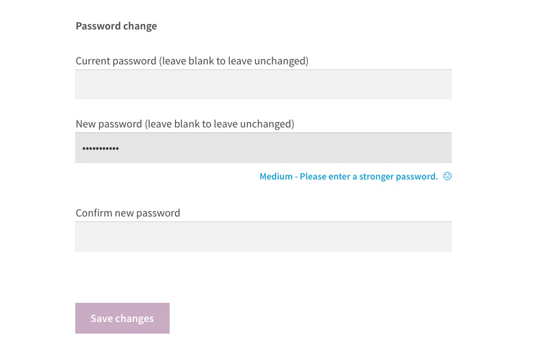 You can configure the strength meter the way that only strong passwords will be accepted.