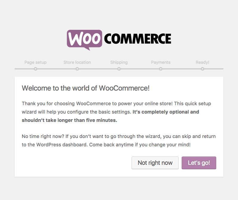 WooCommerce installer