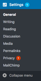 The privacy notification bubble will appear after any changes in your Privacy Policy Guide.