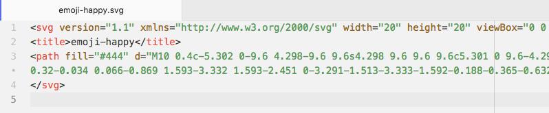 SVG icon code