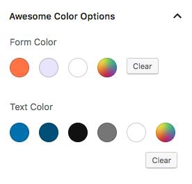 Gutenberg custom color schemas