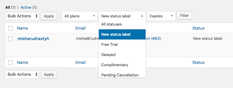 How to change a membership status name everywhere on your website in WooCommerce Memberships.