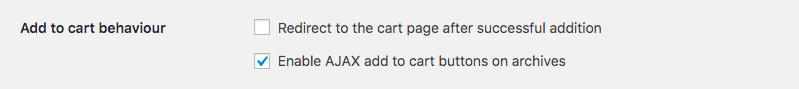 WooCommerce option: Enable AJAX add to cart buttons
