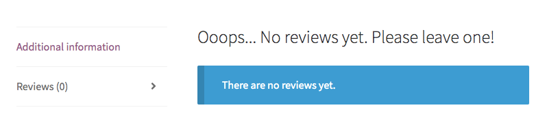 Custom heading for Reviews product tab when there are no reviews