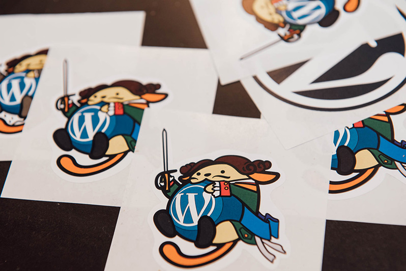 Wapuu stickers at WordCamp Saint Petersburg 2019
