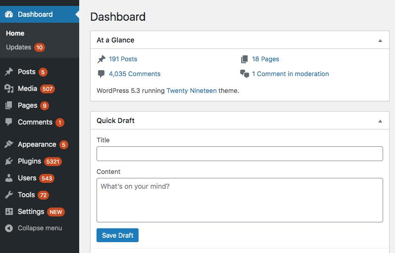 Admin menu notification bubble count in WordPress