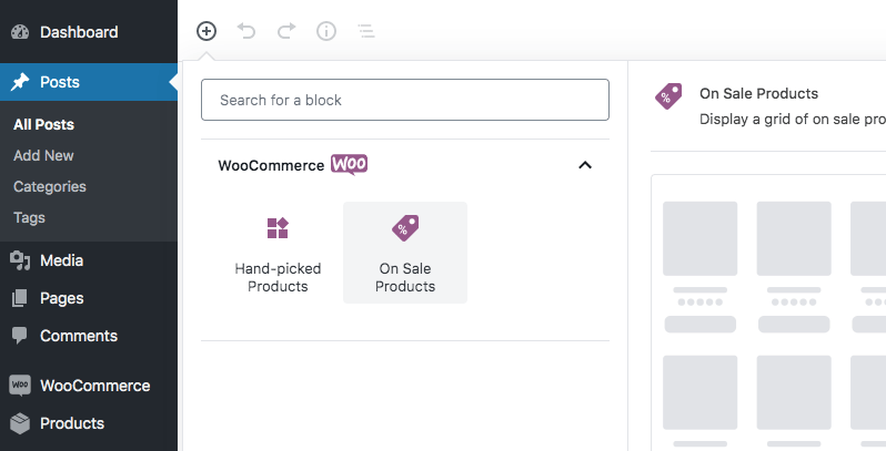 Allow only 2 WooCommerce Gutenberg blocks with allowed_block_types filter hook