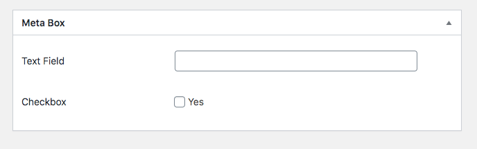Simple WordPress Meta box