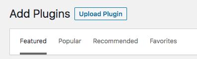 WordPress upload plugin button