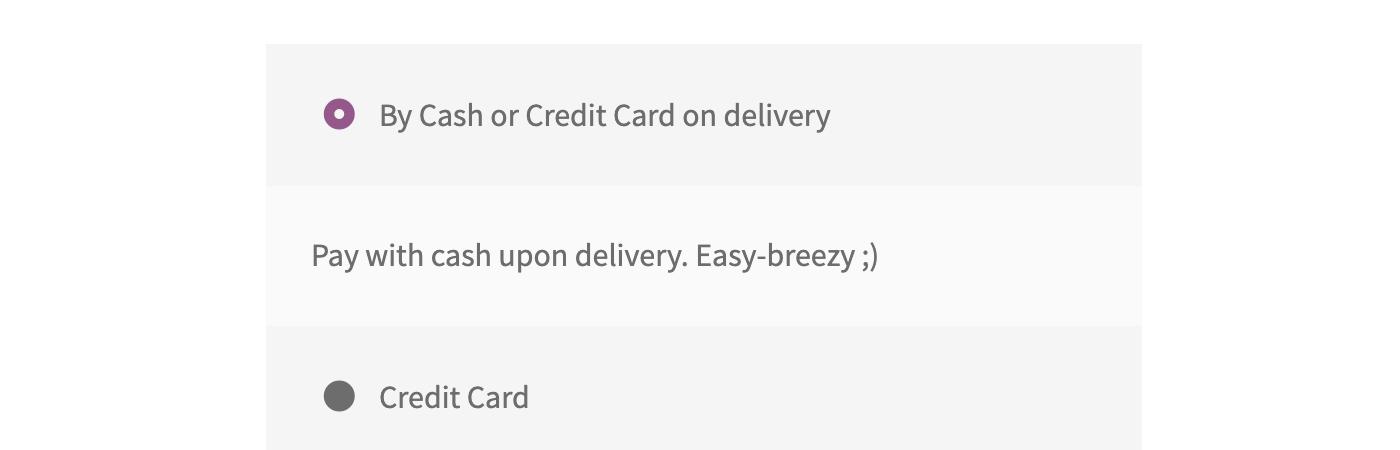 Change WooCommerce payment gateway title and description