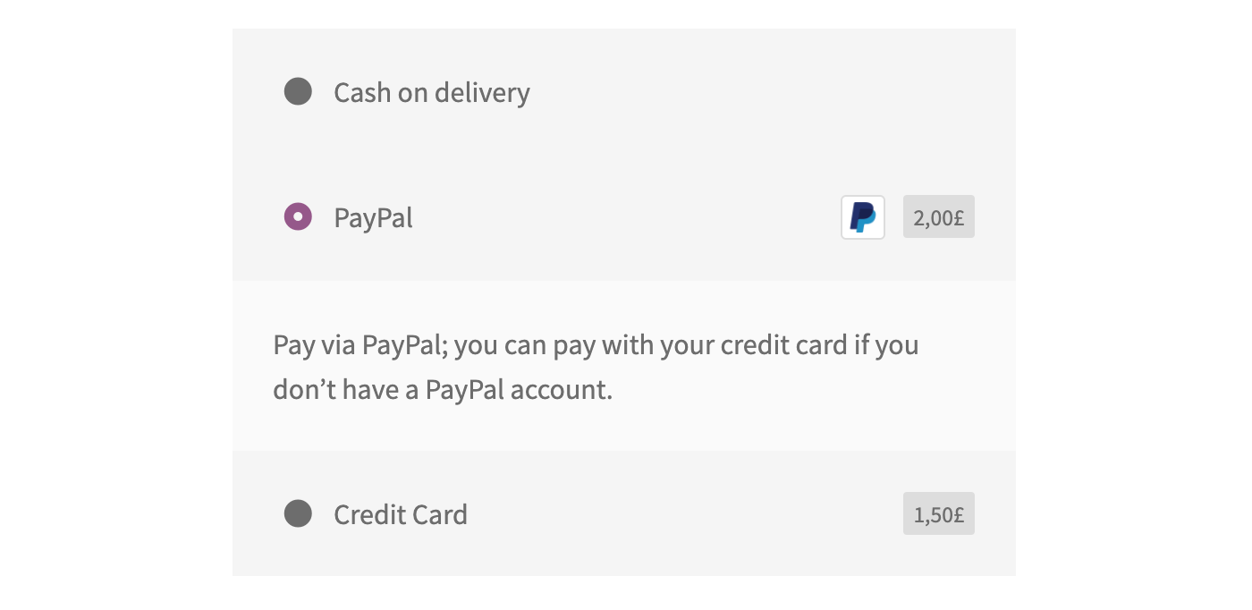 How to add extra fees to payment gateways in WooCommerce