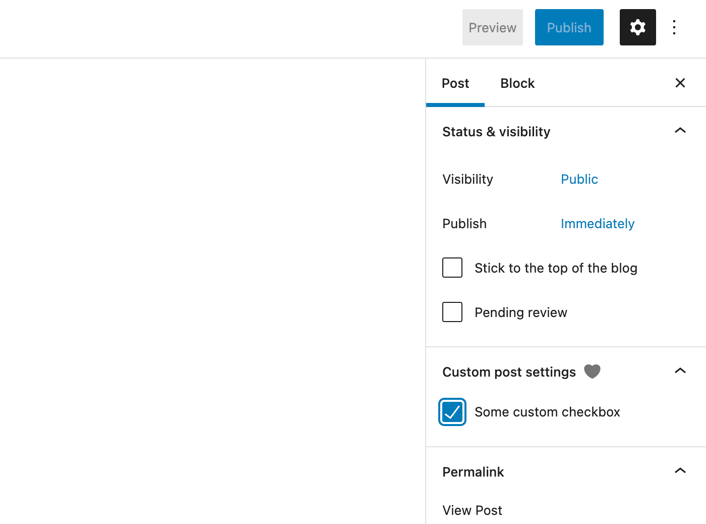 how to add a custom meta field in PluginDocumentSettingPanel